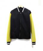agnes b homme(アニエスベーオム)の古着「EDENボンディングジャケット」|イエロー×ブラック