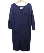 MM6(エムエムシックス)の古着「カットソーワンピース」 ネイビー