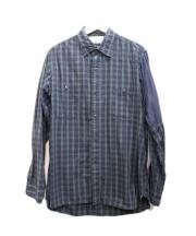 . . . . . . . RESEARCH(リサーチ)の古着「チェックシャツ」|ネイビー