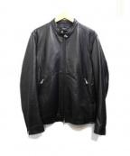 MORGAN HOMME(モルガンオム)の古着「シングルライダースジャケット」|ブラック