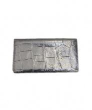 IL BISONTE(イルビゾンテ)の古着「クロコ柄長財布」|ブラック