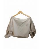 ELIN(エリン)の古着「オフショルダーブラウス」|ライトグレー