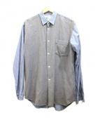 COMME des GARCONS SHIRT(コムデギャルソンシャツ)の古着「切替フランネルシャツ」|グレー