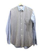 COMME des GARCONS SHIRT(コムデギャルソンシャツ)の古着「切替フランネルシャツ」 グレー