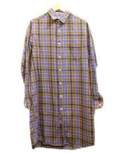 INDIVIDUALIZED SHIRTS(インディビジュアライズドシャツ)の古着「シャツワンピース」|ベージュ