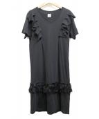 YuumiARIA(ユウミアリア)の古着「カットソーワンピース」 ブラック