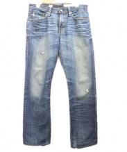 ADRIANO GOLDSCHMIED(アドリアーノ ゴールドシュミット)の古着「ユーズド加工スリムストレートデニム」|インディゴ