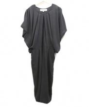 ENFOLD(エンフォルド)の古着「ドレープワンピース」|ブラック