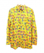 JUNIOR GAULTIER(ジャンポール・ゴルチエ)の古着「総柄プリントシャツ」|イエロー