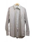 HERMES(エルメス)の古着「チェックシャツ」 ブラウン