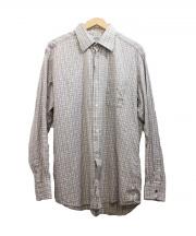 HERMES(エルメス)の古着「チェックシャツ」|ブラウン