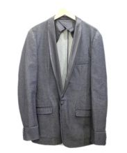 BURBERRY BLACK LABEL(バーバリーブラックレーベル)の古着「デニムテーラードジャケット」 グレー
