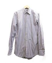 DSQUARED2(ディースクエアード)の古着「ギンガムチェックシャツ」|ホワイト