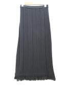Noble(ノーブル)の古着「ニットスカート」|ブラック