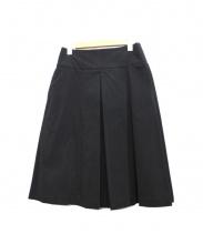 MARGARET HOWELL(マーガレットハウエル)の古着「コーデュロイスカート」|ブラック