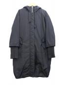 Andemiu(アンデミュウ)の古着「ダウンベスト付フーデッドコート」|ブラック