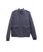 A.P.C.(アーペーセー)の古着「スタンドカラーコート」|ネイビー