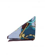 HERMES(エルメス)の古着「カシミヤ・シルク大判ストール」|ブルー×グリーン