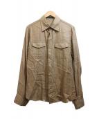 roar(ロアー)の古着「バック刺繍リネンシャツ」