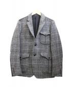 MINOTAUR(ミノトール)の古着「切替ツイードジャケット」|グレー