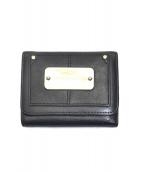 SEE BY CHLOE(シーバイクロエ)の古着「3つ折り財布」|ブラック