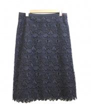 自由区(ジユウク)の古着「レーススカート」|ネイビー