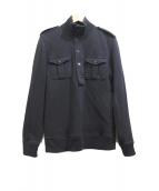 BURBERRY BLACK LABEL(バーバリーブラックレーベル)の古着「エルボーパッチスウェット」