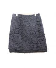 Loulou Willoughby(ルルウィルビー)の古着「レーススカート」|ブラック