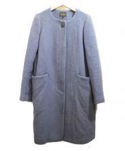 Demi-Luxe BEAMS(デミルクス ビームス)の古着「ノーカラーコート」|ブルー