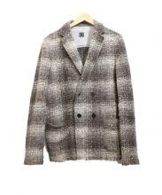 CLAUDIO TONELLO(クラウディオ・トネッロ)の古着「ダブルニットジャケット」 ブラウン
