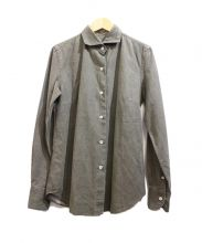 giannetta(ジャンネット)の古着「ホリゾンタルカラーシャツ」|カーキ
