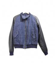 Cinquanta(チンクアンタ)の古着「レザー切替ジャケット」|インディゴ