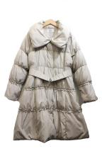 GALLERY VISCONTI(ギャラリービスコンティ)の古着「フリルダウンコート」|ベージュ
