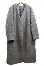 FRAY ID(フレイアイディー)の古着「ノーカラーコート」|グレー