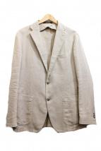 TAGLIATORE(タリアトーレ)の古着「リネン混アンコンジャケット」|ベージュ