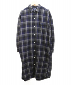 Gymphlex(ジムフレックス)の古着「ネルシャツワンピース」 ネイビー