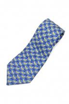 HERMES(エルメス)の古着「ゼブラ柄ネクタイ」|ブルー