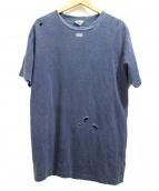 KITH(キース)の古着「ダメージ加工Tシャツ」|インディゴ