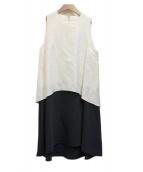 muller of yoshiokubo(ミュラー オブ ヨシオクボ)の古着「切替ワンピース」|ホワイト×ネイビー