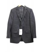 TAKEO KIKUCHI(タケオ キクチ)の古着「シャイニーストライプシングルジャケット」
