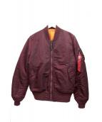 ALPHA(アルファ)の古着「MA-1ジャケット」 ボルドー