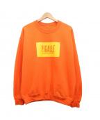 PIGALLE(ピガール)の古着「ロゴプリントスウェット」 オレンジ