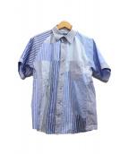 ANSEASON ANREALAGE(アンシーズンアンリアレイジ)の古着「マルチパターンシャツ」|ブルー