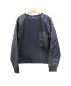 G-STAR RAW(ジースターロゥ)の古着「キルト切替スウェット」 ブラック