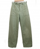 AURALEE(オーラリー)の古着「パンツ  WASHED DOUBLE CLOTH PANTS」|カーキ