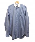 INDIVIDUALIZED SHIRTS(インディビジュアライズドシャツ)の古着「ラウンドカラーシャツ」|ブルー