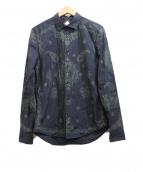 DIESEL(ディーゼル)の古着「ペイズリープリントシャツ」|ブラック