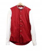 Casely-Hayford(ケイスリーヘイフォード)の古着「切替シャツ」|レッド×ホワイト