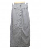 plage(プラージュ)の古着「COハイウエストストレッチスカート」|グレー