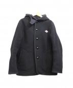 DANTON(ダントン)の古着「ウールモッサフーデッドジャケット」 ブラック